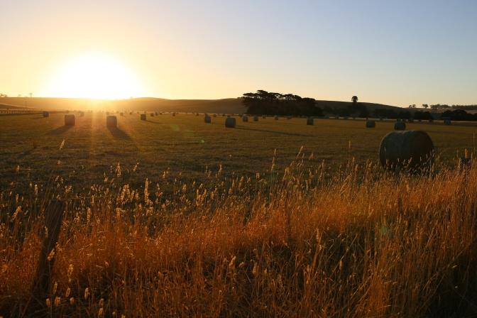 Casterton Vic, Australia Hay Bales